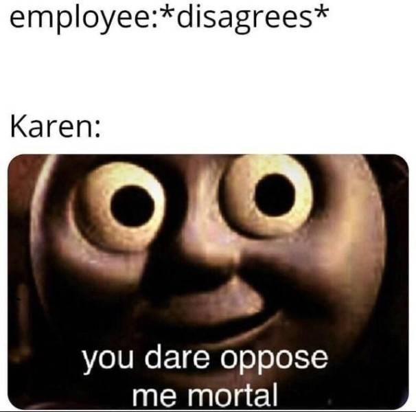 Karen Meme - Has the best morals