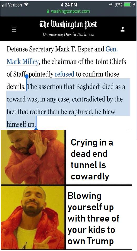 al-Baghdadi Drake meme