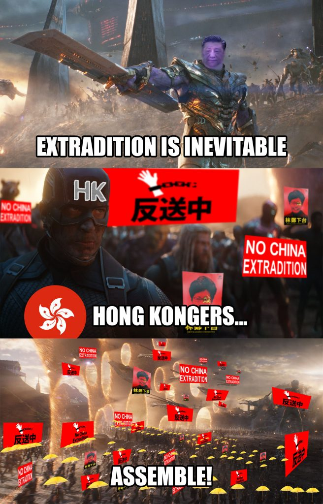 Hong Kong End Game Meme Avengers